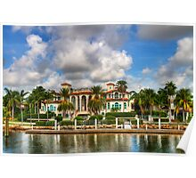 Fort Lauderdale Mansion Poster