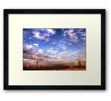 Clouds & Bridge Framed Print