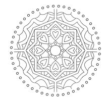 Mandala : Colouring 12 by danita clark
