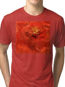 My Red Camellia  Tri-blend T-Shirt