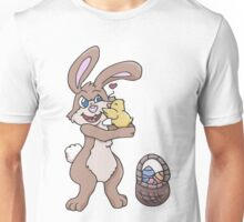 Easter Bunny with Baby Chick  Unisex T-Shirt