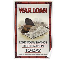 War loan Lend your savings to the nation to day 423 Poster
