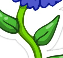 Single Blue Flower  Sticker
