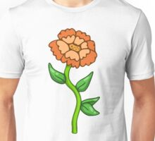 Single Orange Flower  Unisex T-Shirt