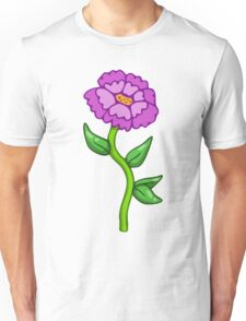 Single Purple Flower  Unisex T-Shirt