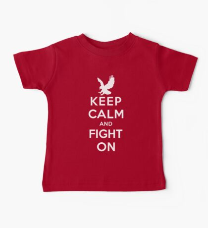 Keep Calm And Fight On 9/11 Tribute Memorial American Patriotic T Shirt Baby Tee