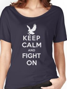 Keep Calm And Fight On 9/11 Tribute Memorial American Patriotic T Shirt Women's Relaxed Fit T-Shirt