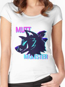 Mutt Monster Glitch Women's Fitted Scoop T-Shirt