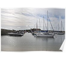 September Sky At Lyme Harbour, Dorset UK Poster