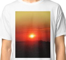 Santorini Summer Sunset  Classic T-Shirt