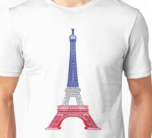 Eiffel Tower French Flag Unisex T-Shirt