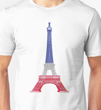 Eiffel Tower French Flag Unisex T-Shirt