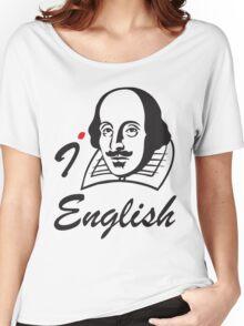 I LOVE ENGLISH T-shirt Women's Relaxed Fit T-Shirt