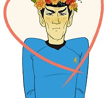 First Officer Spock Valentine by livielightyear