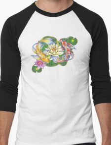 Lotus Koi Pond - Simple Men's Baseball ¾ T-Shirt