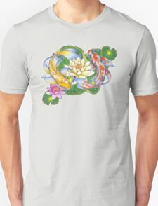 Lotus Koi Pond - Simple T-Shirt