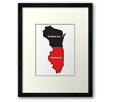 The New Midwest Geography Framed Print