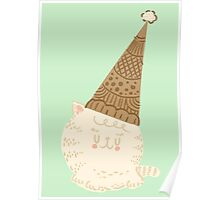Holiday Ice Cream Cat Poster