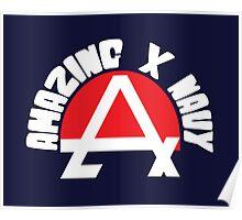 Amazing X Navy Poster