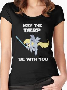 Derpy Hooves Jedi Women's Fitted Scoop T-Shirt