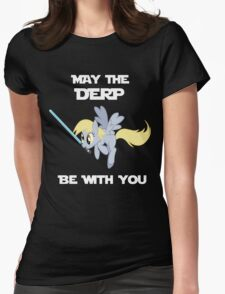 Derpy Hooves Jedi Womens Fitted T-Shirt