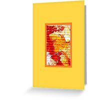 JWFrench Collection Marbled Card 4 Greeting Card