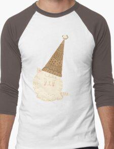Holiday Ice Cream Cat Men's Baseball ¾ T-Shirt