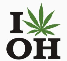 I Love Ohio Marijuana Cannabis Weed T-Shirt T-Shirt