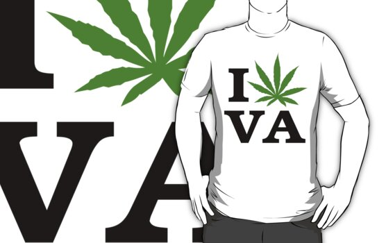 I Love Virginia Marijuana Cannabis Weed T-Shirt by MarijuanaTshirt