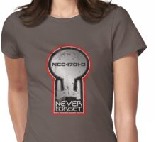 Never Forget: NCC-1701-D Womens Fitted T-Shirt
