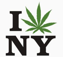 I Love New York Marijuana Cannabis Weed T-Shirt by MarijuanaTshirt