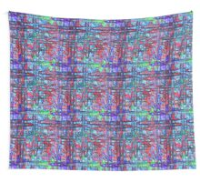 Pop Waves Modern Digital Abstract Wall Tapestry