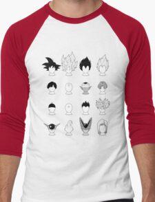 Ka-me-ha-me-Hair Men's Baseball ¾ T-Shirt