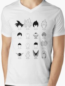 Ka-me-ha-me-Hair Mens V-Neck T-Shirt