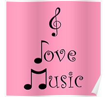 I Love Music - Punk Pink Poster