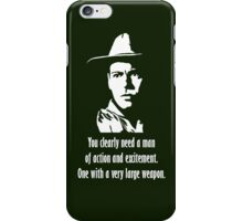 A very large weapon (white) iPhone Case/Skin