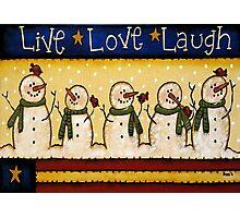 Build a Snowman Photographic Print