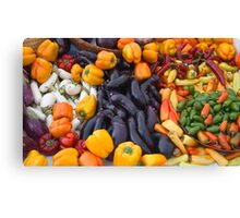 Cornucopia-Farmers market in Santa Barbara Canvas Print