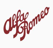 Alfa Romeo Script in RED by Fobrocks