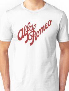 Alfa Romeo Script in RED Unisex T-Shirt