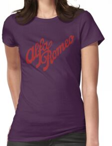 Alfa Romeo Script in RED Womens Fitted T-Shirt
