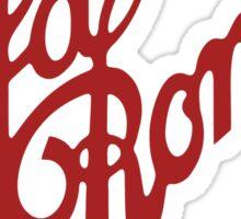 Alfa Romeo Script in RED Sticker
