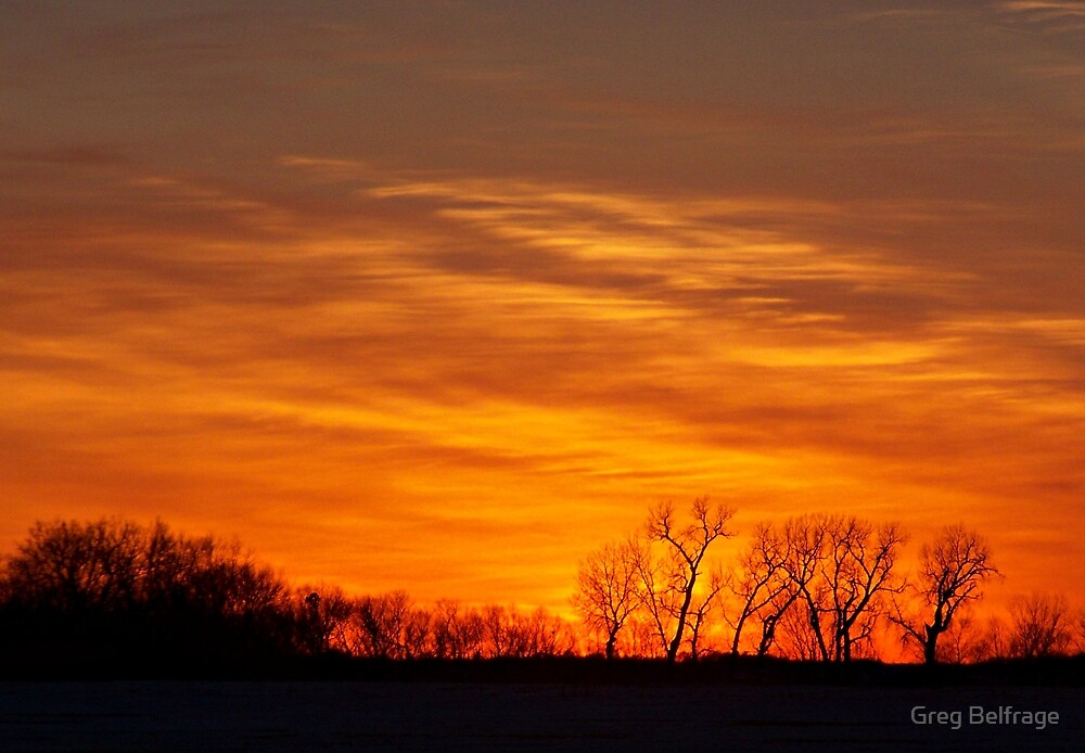 Prairie Flames by Greg Belfrage