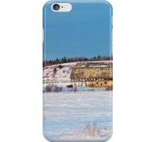 Barn gets a little glow from the Sun as it sits, waiting to be torn apart. iPhone Case/Skin
