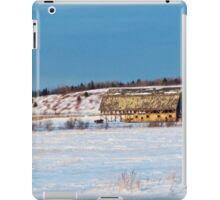 Barn gets a little glow from the Sun as it sits, waiting to be torn apart. iPad Case/Skin