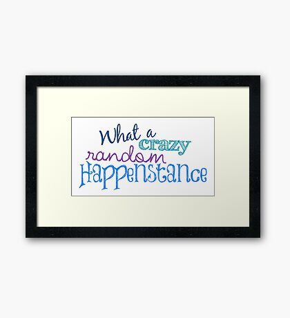 Crazy Random Happenstance Framed Print