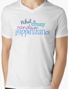 Crazy Random Happenstance Mens V-Neck T-Shirt
