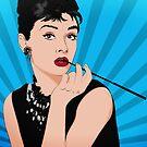 Audrey Hepburn Line Art Poster by TitanVex