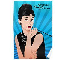 Audrey Hepburn Line Art Poster Poster