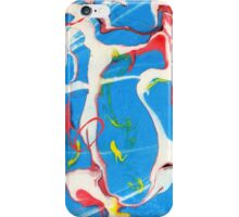 Abstract In Blue, White, Yellow, and Red iPhone Case/Skin